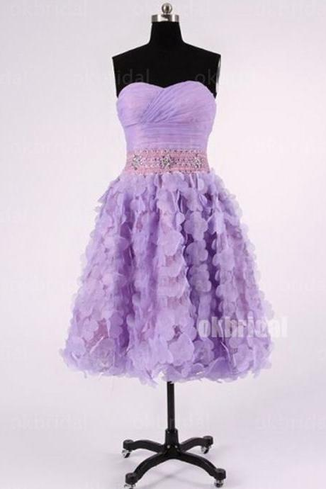 2017 Short Zipper Sleeveless Large size Homecoming Dress Short/Mini Cascading Dresses
