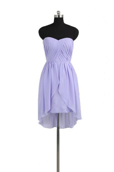 Short Zipper Sleeveless Plus Size Homecoming Dress Short/Mini Strapless Chiffon Dresses