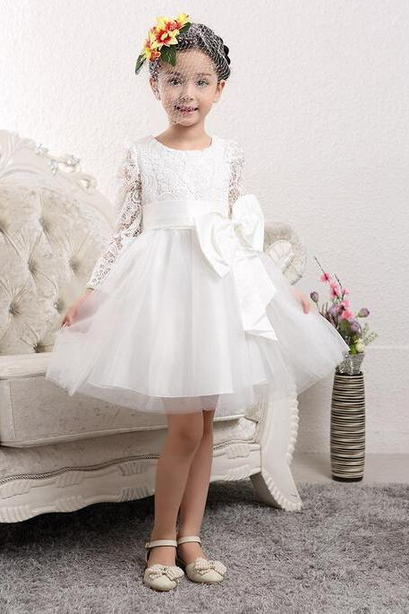 Short Zipper Long Sleeve Princess Plus Size Homecoming Dress Short/Mini Jewel Lace Dresses